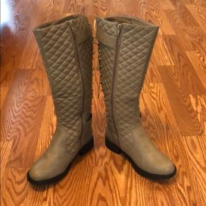 CA Collection Tall, Quilted, Lace-Up Boots